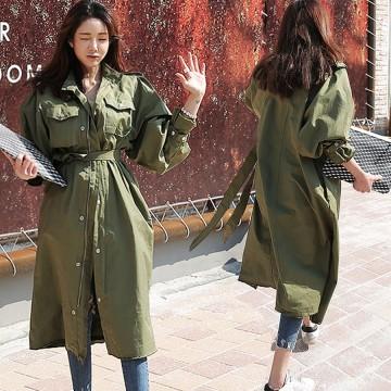 2798 autumn Koreanfashion handsome long coat