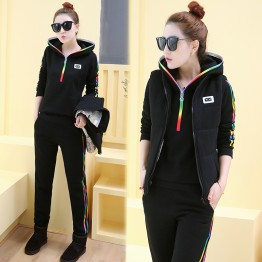 5505 thick wool lining leisure sport style three pieces
