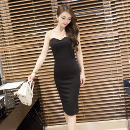 7003 fashion sexy lace two-pieces tight  hip dress