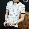 Summer short-sleeved t-shirt male trendy youth big size compassion men's lapel Polo shirt half sleeve shirt 3602