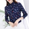 928 # chiffon shirt long sleeves 2017 autumn Korean women lace collar collar slimshirt