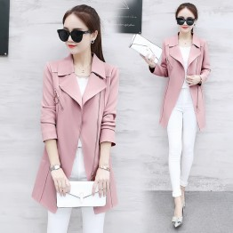 201 Windbreaker long sleeve slim fashion coat
