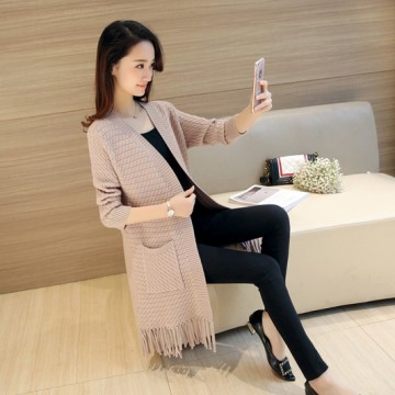 Autumn and winter new wave Korean fashion long sleeves tassel sweater 6055