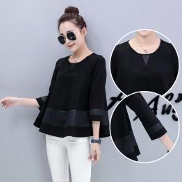 773 large size women loose fashion bottoming shirt