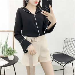 883 fashion pajamas style long sleeve shirt