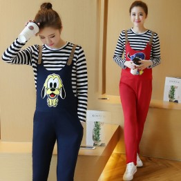 5017 Korean cartoon pattern pregnant women belly pants