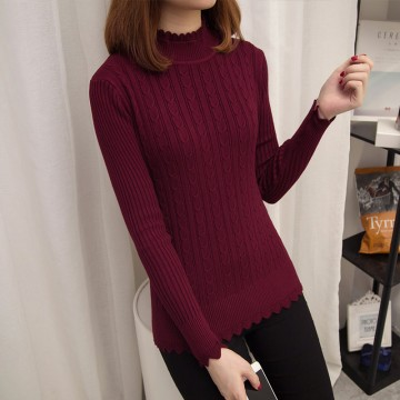 3112 # 2017 early autumn women's Korean fashion high-collar loose sweater