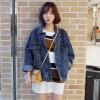 2017 new loose cowboy jacket female Korean version of the bat long-sleeved short section Harajuku retro cowboy shirt # 1605