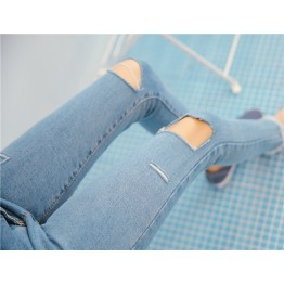 0133 stretch holes pencil jeans