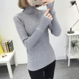 8081 Slim high collar long sleeve base sweater