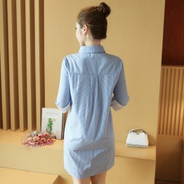 8201 Spring New Korean Style Embroidery Long Sleeve Top