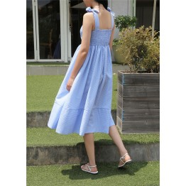 Summer style of art small fresh waist dress in the long paragraph dress