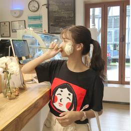 3097 Korean fashion fresh and simple beauty T-shirt
