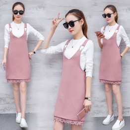 9902 Women's Autumn Two-piece Chiffon Dress