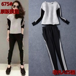 675 fashion loose leisure sports suit