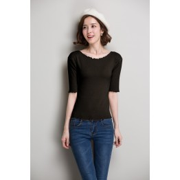 939 Shor t-sleeved bottom knitting shirt