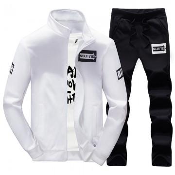 Leisure suit men autumn and winter trend Korean sports male long sleeve sweater jacket two sets EK809
