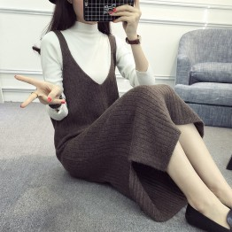 8010 Korean fashion women's vest skirt strap dress