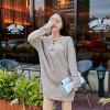 181 Korean fashion long loose V collar personalized sweater