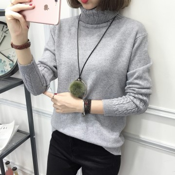 8091 # autumn and winter new women's Korean high-necked sweater
