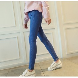 1880 Korean nine points pants high waist slim feet pencil pants