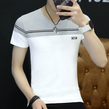 Summer men 's short - sleeved t - shirt Korean fashion half - sleeved youth trend men' s clothing 3045