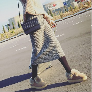 8134 autumn and winter thick wool skirt