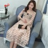 1790 # early autumn Korean version of the lace V-neck lace pregnant women dress (with tube top)