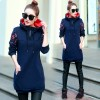 5502 # new thick in the long paragraph sweater national wind thicken plus large size women