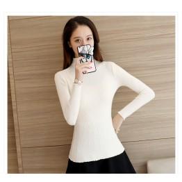 8839 slim high neck sweater