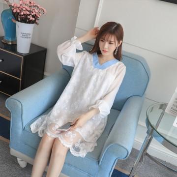 2803 two side wear organza pregnant women dress