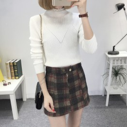 8080 Slim high collar Korean long sleeve base sweater