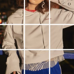 668 letters embroidery hooded sweatshirt
