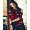 6201 spring and autumn punk embroidery baseball short jacket