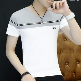 Summer men 's short - sleeved t - shirt Korean fashion half - sleeved youth trend men' s clothing 3045