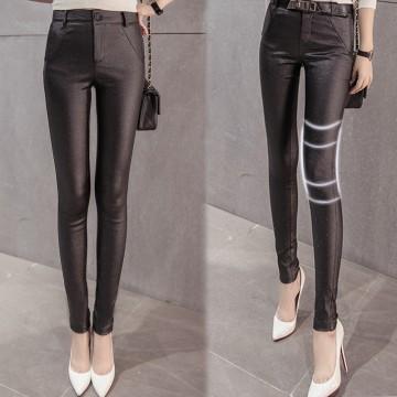 8805 # flash leather autumn and winter high waist leggings