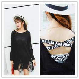 8813 large size fashion ribbon long sleeve hole ice silk shirt