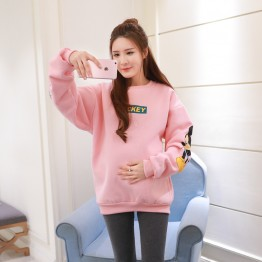 1031 pregnant women thicken cartoon printing sweatshirt