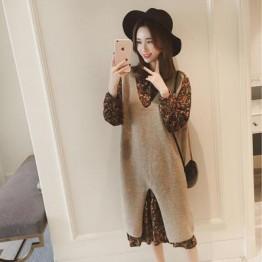 6495 Korean fashion long vest sweater