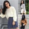 Hong Kong Floral Sweater Knit Sweater Sleeve Long Sleeve Korean Slim Autumn Tops