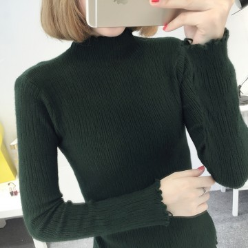 8085 # autumn and winter new Slim thin high collar sweater female Korean long-sleeved sweater