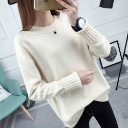 1021 loose round neck Korean long sleeve sweater
