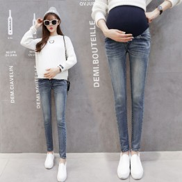 128 Basic autumn and winter pregnant women pencil long pants jeans