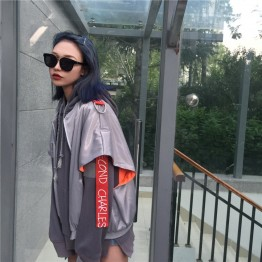 795 breathable fabric ribbon sunscreen loose jacket
