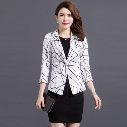 9068 seven-point sleeve printing small suit OL