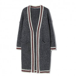 1080 Korean fashion cardigan Loose long Jacket