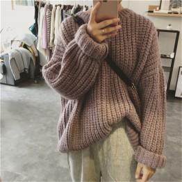 1966 Korean fashion retro hedging large size sweater