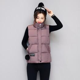 1645 women ball cotton down vest jacket