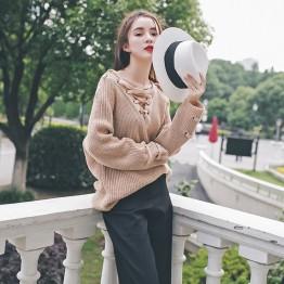 3034 Korean fashion thick needle ulzzang loose knit sweater
