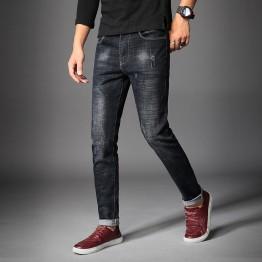 712 Men's autumn fashion straight elastic washing men's casual jeans